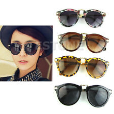 Vintage Unisex Women's Retro Arrow Style Sunglasses Metal Frame Round Sunglasses