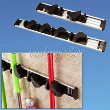 ABS Space Aluminum Frame Removable Hook Wall Hanger Mop Broom Tool Holder