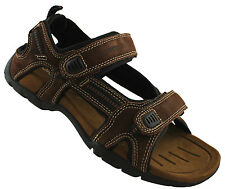 SLATTERS BROOME MENS LEATHER SANDALS/SHOES/COMFORTABLE/CASUAL/ADJUSTABLE VELCRO
