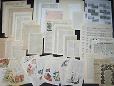 Assorted Vtg Ephemera Paper Pack Mix Lot~Scrapbook,Collage,Altered Art,Decoupage