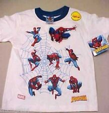 NWT Youth Marvel Multiple Spiderman Figures White T Shirt
