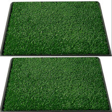 Pet Potty Dog Training Grass Pad Zoom Artificial Park Patch Mat Indoor  New
