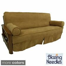 Blazing Needles Premium Microsuede 3-piece Skirted Futon Slip Cover and Bolster