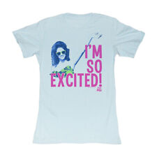 Saved By The Bell 80's Comedy Jessie I'm So Excited! Light Blue Junior T-Shirt