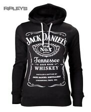 Official Ladies JACK DANIELS Whiskey Hoody/Hoodie Classic Logo All Sizes