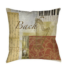 Thumbprintz Classic Composers Bach Indoor/ Outdoor Pillow