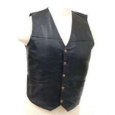 Genuine Leather Vest Motorcycle or Dress Inside Chest Pocket 2 Outside Pockets