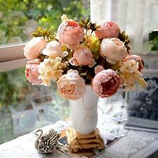 Beautiful Artificial Peony Flower Bouquet Wedding Party Festival Xmas Decor Hot