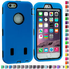 For Apple iPhone 6 (4.7) Hybrid Armor Case Cover With Built in Screen Protector