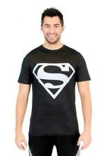 Adult DC Comics Superhero Superman Silver Logo Performance Athletic T-Shirt Tee
