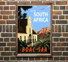 BOAC South Africa - Vintage Travel Poster