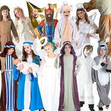 Christmas Nativity Play Kids Fancy Dress Festive Season Boys Girls Child Costume