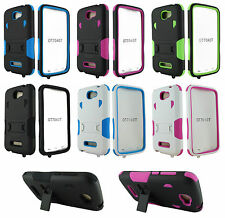 For Alcatel One Touch Fierce 2 7040 Heavy Duty Hard Hybrid Stand Case Cover