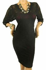 DEALZONE Beautiful Lace Long Sleeve Dress 1X 2X 3X Women Plus Size Burgundy