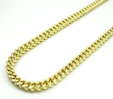"24-36"" 12Gr 3mm 10k Yellow Real Gold Hollow Franco Box Cuban Chain Necklace Mens"