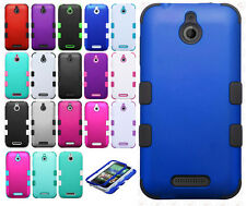 HTC Desire 510 IMPACT TUFF HYBRID Protector Case Skin Phone Cover +Screen Guard