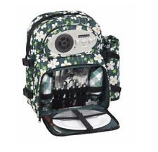 2 Person Insulated Picnic Set Hamper Backpack Radio