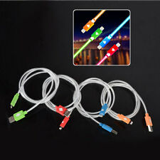Visible LED Light 3.3FT/1M Micro USB Data Sync Charger Cable for iPhone5/5s/5c