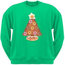 Breakfast Bacon And Eggs Christmas Tree Green Adult Crew Neck Sweatshirt
