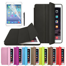 For Apple iPad Air 2 Leather Smart Slim Wake Protector Case Cover+Film Pen Set G