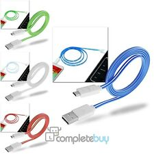 3FT Visible LED Light Micro USB Charger Data Sync Cable For Samsung HTC LG