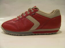 SCARPE SCARPETTE DONNA LEVI'S ORIGINAL TENERIFE 41 ROSSO PELLE SHOES LEATHER NEW