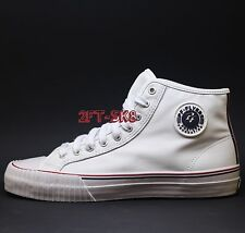 PF FLYERS (by new balance) CENTER HI PREMIUM LEATHER WHITE MENS HIGH TOP SHOES