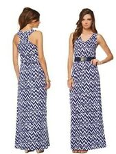LILLY PULITZER MILLS MAXI DRESS NWT BRIGHT NAVY GET YOUR CHEV ON XS,S