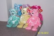 SHERBET TY BEANIE ABY BABIES BEARS MANY VARIETIES MWMT GREEN BLUE YELLOW RED