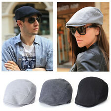 Vintage Newsboy Cabbie Gatsby Hat Flat Cap Cotton Golf Driving Beret Hat Unisex