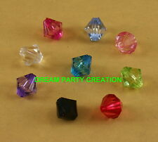 Faceted Lucite ACRYLIC BICONE Loose Beads 12MM CHOOSE COLOR & Packs of 60 or 300