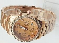 Metal Fashion Boyfriend Designer Chronograph Style Ladies Wrist Watch