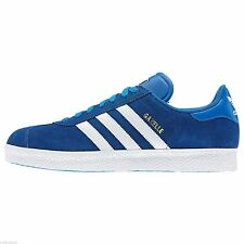 adidas ORIGINALS MENS SIZE 7-12 SUEDE GAZELLE 2 TRAINERS BLUE SHOES NEW CLASSIC