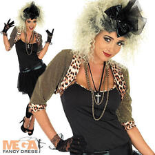 80s Pop Star Fancy Dress Ladies 1980s Madonna Celebrity Womens Adult Costume New
