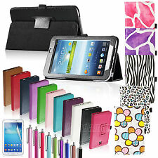 """PU Leather Case Cover Stand For Samsung Galaxy Tab3 7.0"""" 7"""" 7-inch Tablet P3200"""
