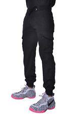 Basic Mens Harem Elastic Cargo Straight Fit LAB Bottom Urban Jogger Twill Pants