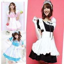 US Alice Halloween Costume French Maid Princess Cosplay Japanese Fancy Dress MO