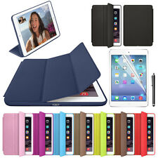 For Apple iPad Leather Stand Back Smart Case Cover Slim Wake Protector Salable