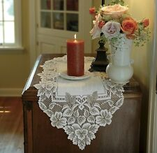 Heirloom Table Runner by Heritage Lace, Ecru or White, 4 sizes, Country Vintage