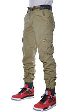 M Society Fashion Apparel Casual Quality Twill Utility Urban Cargo Jogger Pants