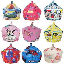 DISNEY CHARACTER LARGE BEAN BAG GIRLS BOYS CUSHION WITH BEANS FILLED SEAT CHAIR