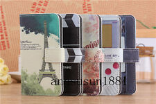 Eiffel/Big Ben/Video/Game Wallet Pouch Flip PU Leather Case for Verious Phones
