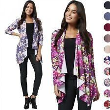 Glamour Empire Women's Waterfall Top Jersey Cardigan 320