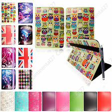 New Universal 8'' Inch PU Leather Stand Case Cover For Various Tablets +Stylus
