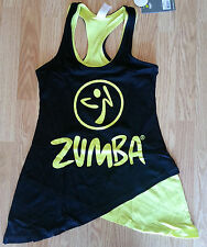 ZUMBA®  Two-tone Long Loose tank - Black - S, M, L
