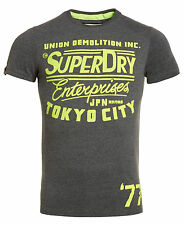 New Mens Superdry Factory Second Enterprises Reworked T-Shirt Dirty Dark Marl