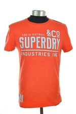 New Mens Superdry Factory Second District T-Shirt Fluro Red