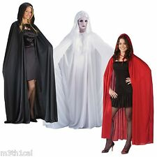 """68"""" Hooded Cloak Cape Robe Medieval Vampire Adult Costume Accessory Unisex NEW"""