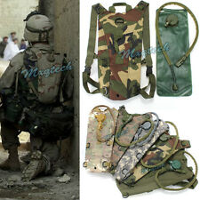 3L Hydration System Water Bag Backpack Pouch & Bladder Climbing Hiking Survival