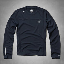 NWT Abercrombie & Fitch Mens Navy Active Sport Baselayer Long Sleeve Shirt - XXL